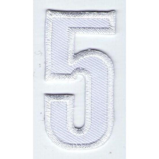 ECUSSON PATCHE  THERMOCOLLANT PATCH CHIFFRE BLANC NEUF 9