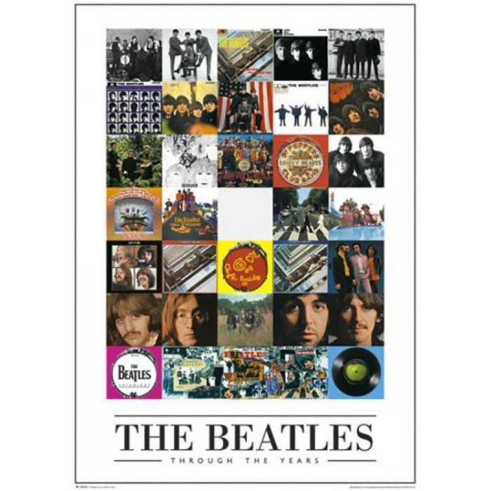 the beatles poster couvertures collage 91 x 61 cm the beatles poster couvertures. Black Bedroom Furniture Sets. Home Design Ideas