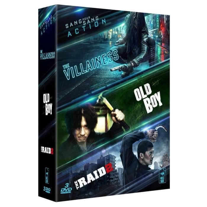 Coffret DVD Action, 3 films : The villainess, The Raid 2 & Old Boy
