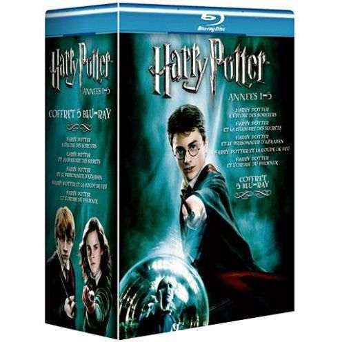 blu ray coffret harry potter ann es 1 5 en dvd film pas cher columbus chris newell mike. Black Bedroom Furniture Sets. Home Design Ideas