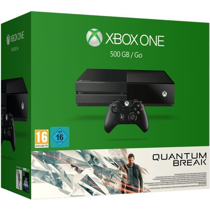 xbox one 500 go quantum break achat vente console. Black Bedroom Furniture Sets. Home Design Ideas