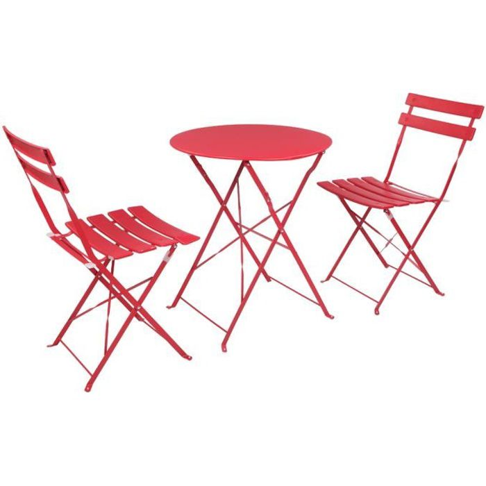 Set bistrot 2 personnes - Table W60 x H70 cm + 2 chaises