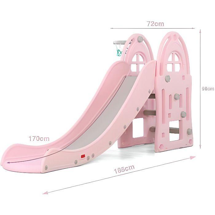 Toboggan XL Rose - Jeux et jouets pour enfants plein air