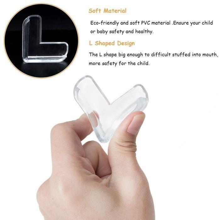 [Lot de 10] Protection Coin De Table Pour Sécurité bébé, Transparent Protege Coin De Meubles, Protection D'angle Pour Enfants