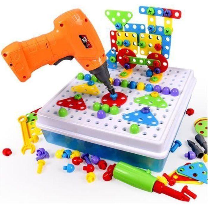 Mosaique Enfant Puzzle 3D Construction Enfant Jeu Montessori Kit Mosaique 237 Pcs pour Enfant Fille Garcon 3 4 5 Ans