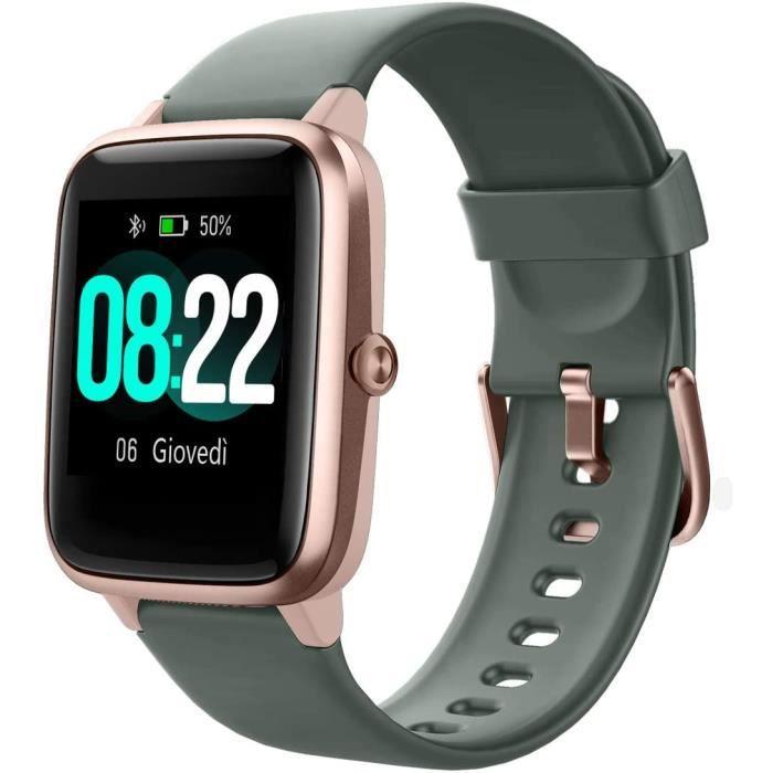 Montre Connectée Homme Femme Smartwatch Compatible Samsung Huawei Xiaomi Android iOS Podometre Montre Sport Cardiofrequencemet[38]