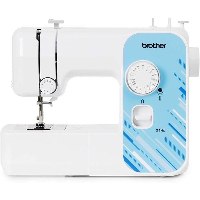 BROTHER X14S Machine à Coudre électrique de Couleur Blanche