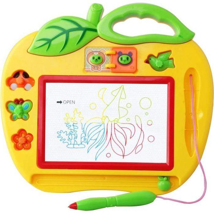 Ardoise Magique Couleur Petit Format avec Tampons -Mini Jeux pour Bebes et Enfants 2 et 3 Ans - Loisir Creatif Educatif Simple