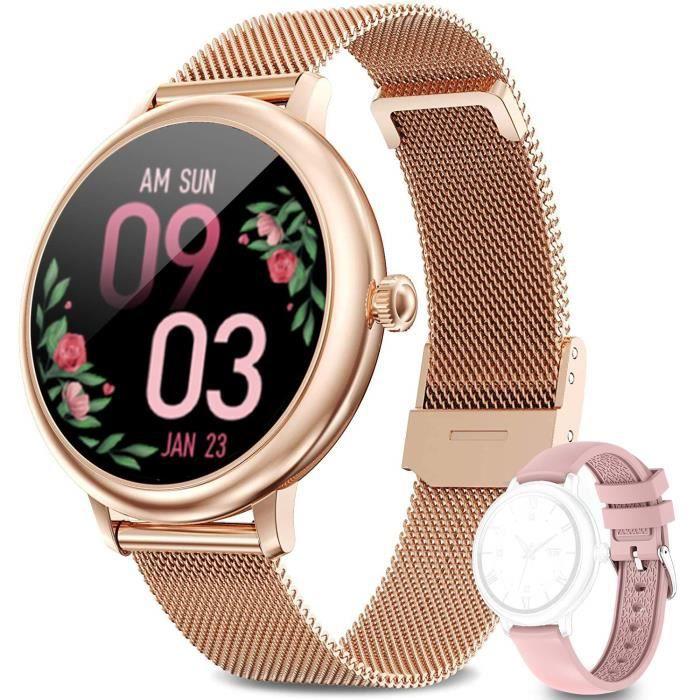 LIEBIG Montre Connectée Femmes Smartwatch avec Fonction FéminineTracker d'Activité IP67 Fréquence Cardiaque Moniteur de Sommeil Oxyg