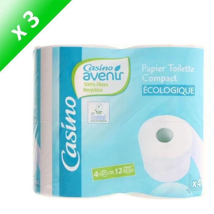 [LOT DE 3] Papiers toilette Compact - 4 rouleaux