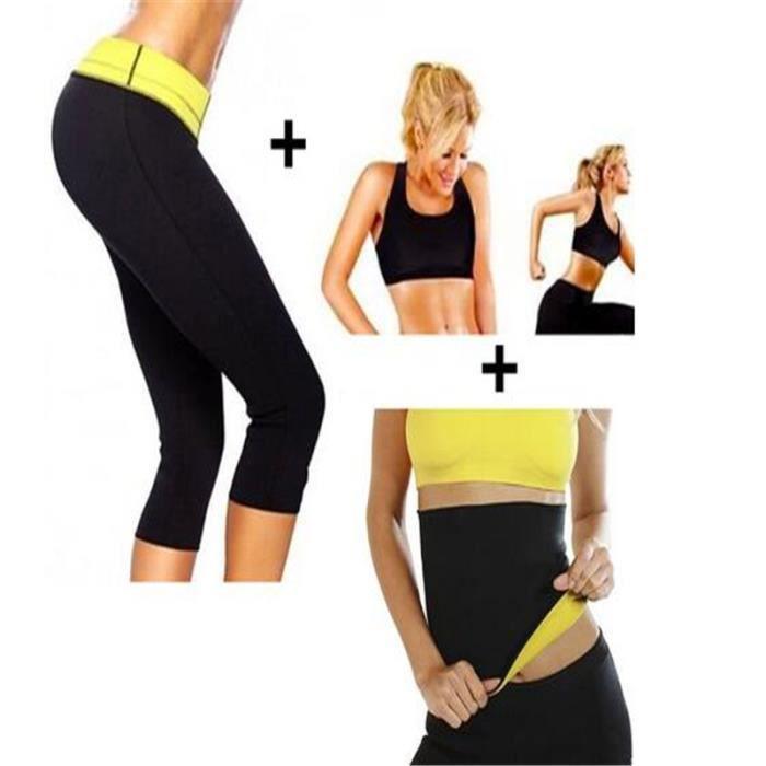 Ensemble Panty Shaper de Sudation Intensive -Corsaire Fitness + Gilet + Ceinture Sudation Minceur Fitness