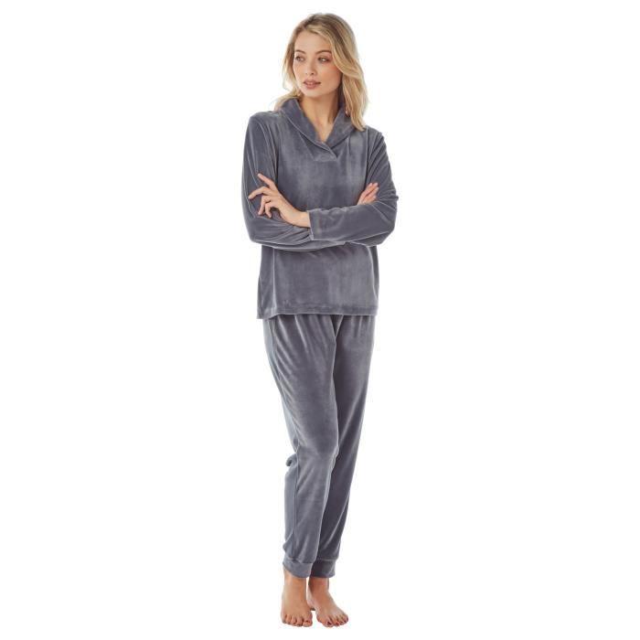 i-Smalls Ensemble de Pyjama en Velours pour Femmes avec Capuche