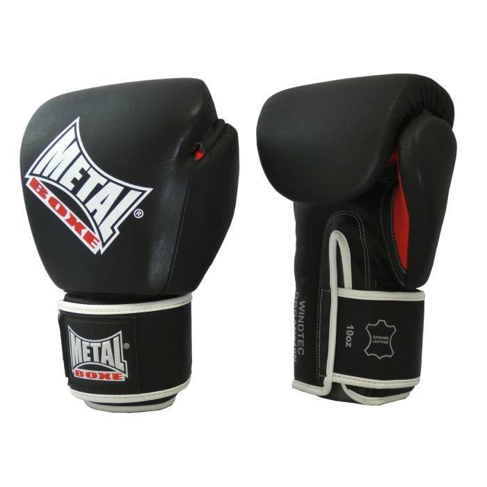 -Gants de boxe Métal boxe en cuir OKO-10 oz-Noir-10 oz--10 oz-Noir--------------Noir-10 oz