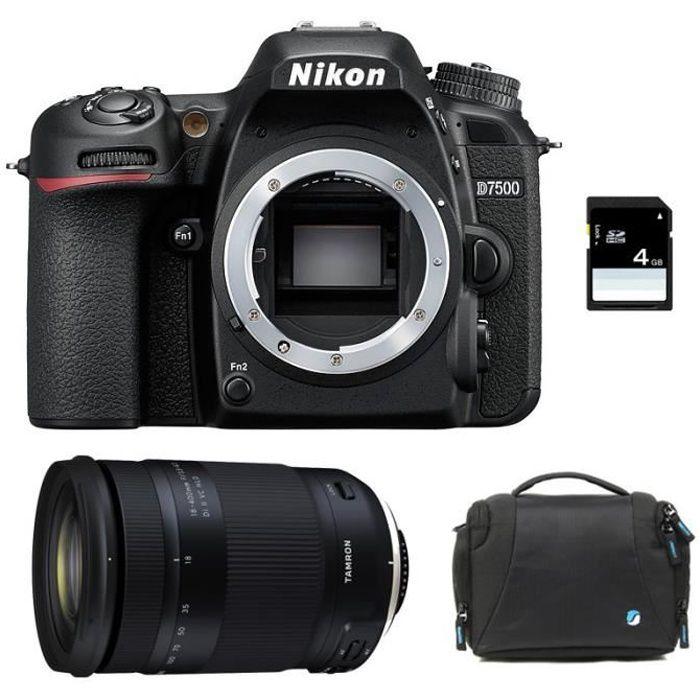 NIKON D7500 + TAMRON 18-400 f/3.5-6.3 Di II VC HLD GARANTI 3 ans + Sac + Carte SD 4Go