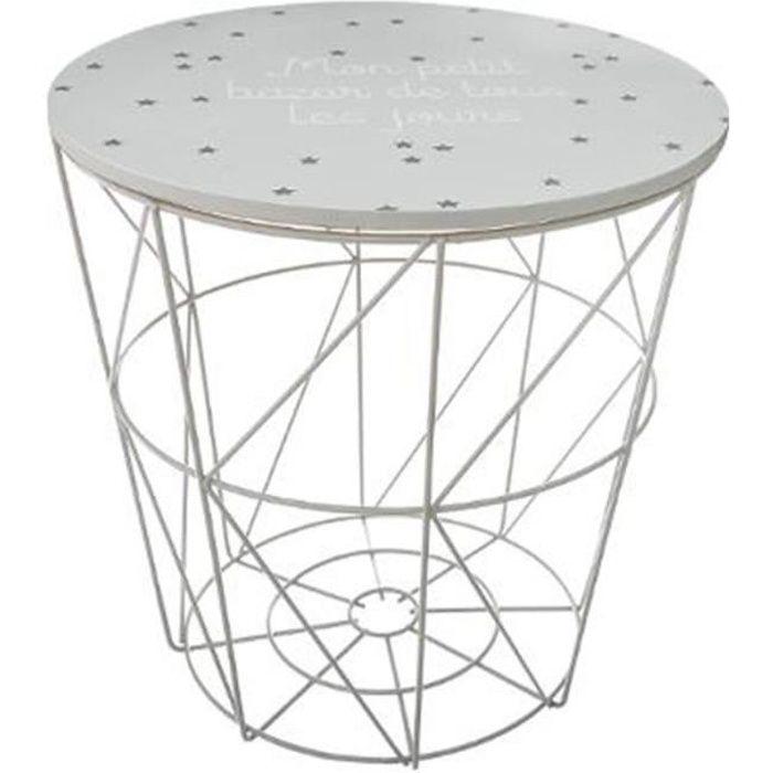 Table d'Appoint Design Enfant -Kumi- 30cm Gris
