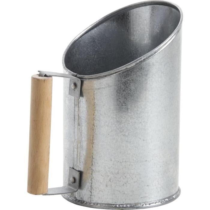 Pelle à pellets en zinc, D12 x H13-20 cm