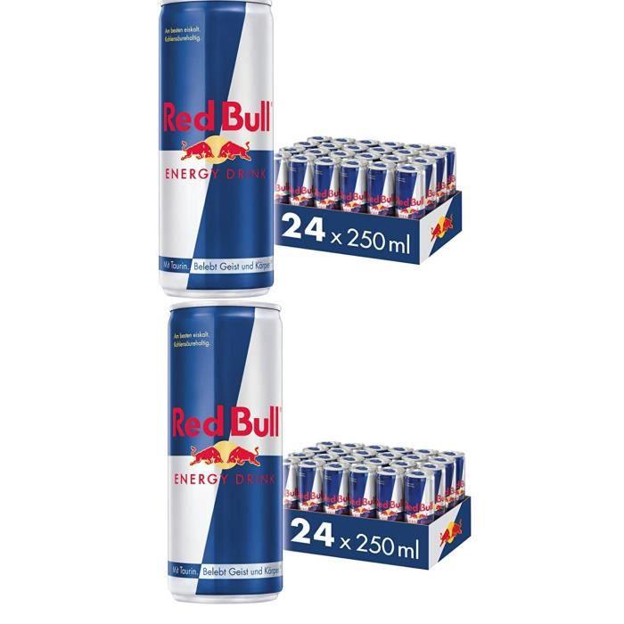 Red Bull PACK XXL -canettes lot de 48 unités de 250ml, boisson énergisante