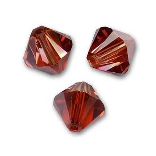 50 Perles Toupies Swarovski® 4mm Crystal Red Magma Xilion