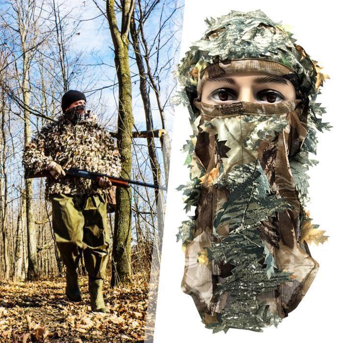 3D Masque Tactique Cagoule Camouflage Pour Chasse Randonnée
