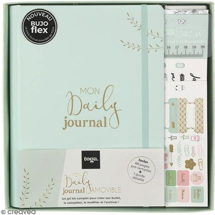 Kit de démarrage Bullet journal - Mon daily journal - 64 pages