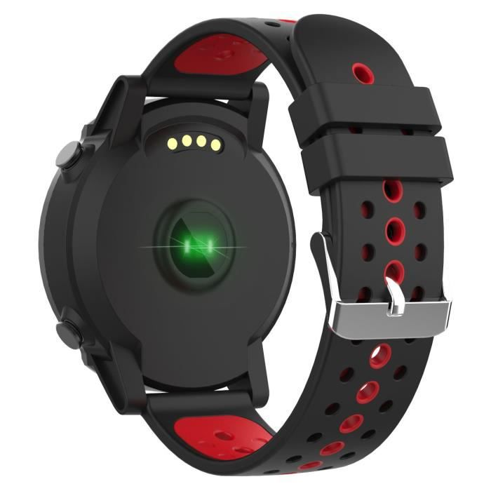 WEE PLUG Explorer 4 montre connectée GPS - Multisports - Cardio - Bluetooth - IP68 - Noir/Rouge