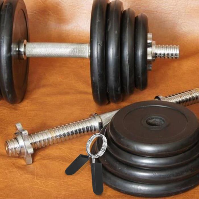 4 pcs 28mm Haltère Barbell Pinces Printemps Clip Colliers pour Powerlifting Cross Fit Haltérophilie Gym BARRE - HALTERE - POIDS