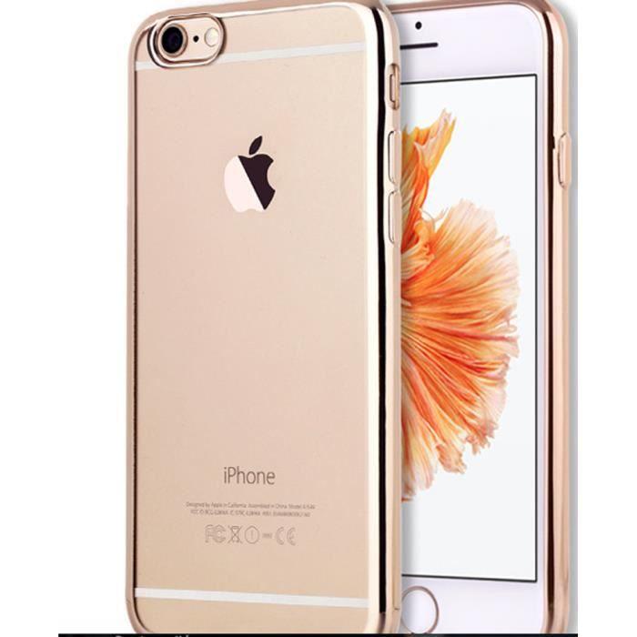 coque iphone 5 5s silicone contour or etui housse