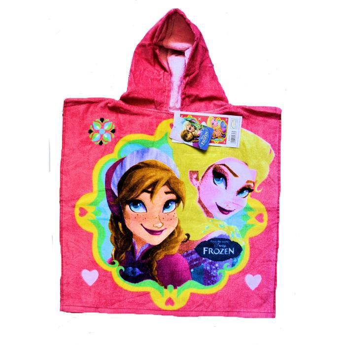 frozen poncho serviette sortie de bain la reine des neiges pour enfant fille achat vente. Black Bedroom Furniture Sets. Home Design Ideas
