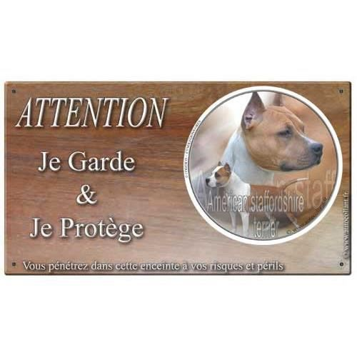 plaque de garde american staffordshire terrier meurisier achat vente plaque signal tique. Black Bedroom Furniture Sets. Home Design Ideas