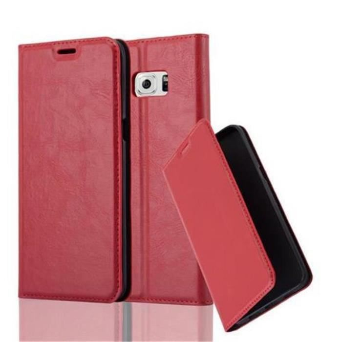 coque rouge galaxy s6 edge plus
