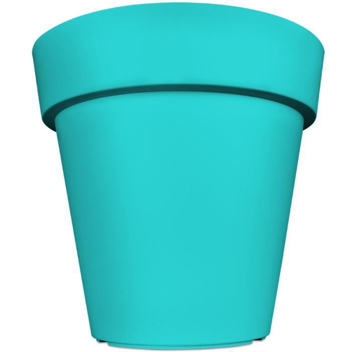 pot de fleurs plantes jardini re xxl lofly en plastique 49x46cm turquoise achat vente. Black Bedroom Furniture Sets. Home Design Ideas