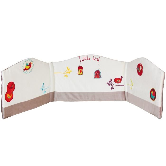 BABYCALIN Tour de lit adaptable - Nelson Little Bird Blanc avec ...