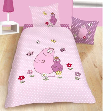 parure de lit enfant barbapapa calin achat vente parure de lit cdiscount. Black Bedroom Furniture Sets. Home Design Ideas