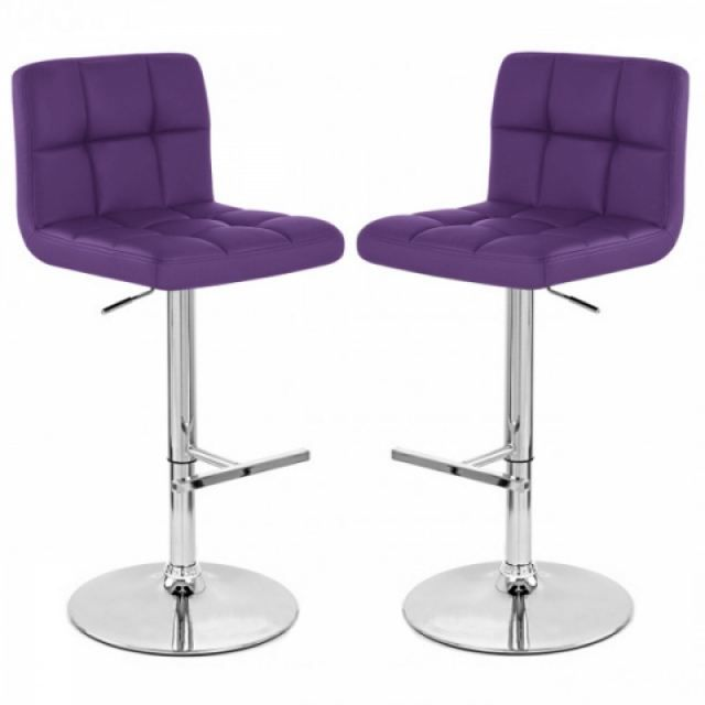 tabouret de bar violet x2 mustang achat vente tabouret de bar cdiscount. Black Bedroom Furniture Sets. Home Design Ideas