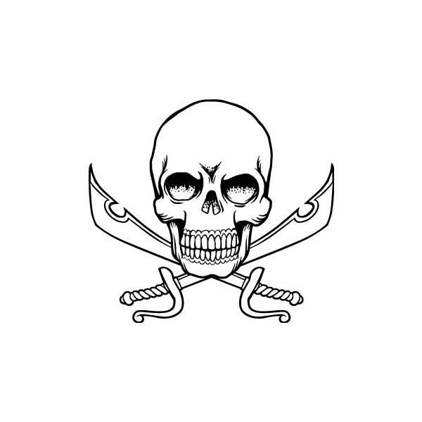 Plusieurs coloris Sticker logo Skull tête de mort Adhésif Autocollant
