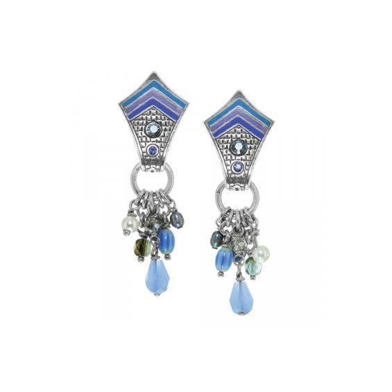 Boucles doreilles Franck Herval LOREEN clips multi-perles 11--61747