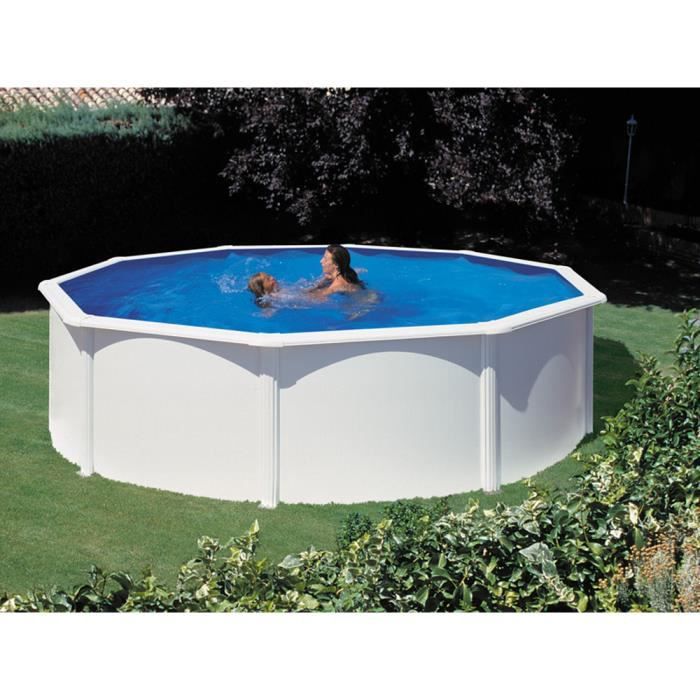 piscine acier en kit ronde x m achat vente kit piscine piscine acier en kit ronde. Black Bedroom Furniture Sets. Home Design Ideas