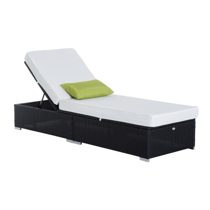 bain du soleil lit transat salon de jardin rotin r achat vente chaise longue bain du soleil. Black Bedroom Furniture Sets. Home Design Ideas