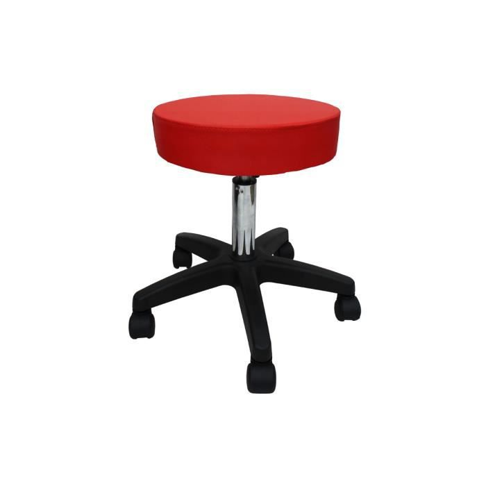 tabouret de bureau a roulettes tabouret de bar tabouret de massage tabouret osteopathe rouge. Black Bedroom Furniture Sets. Home Design Ideas