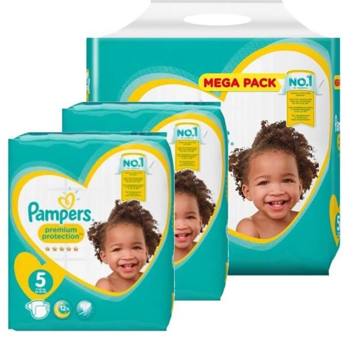 120 couches b/éb/é Couches Pampers Taille 5 new baby premium protection premium protection