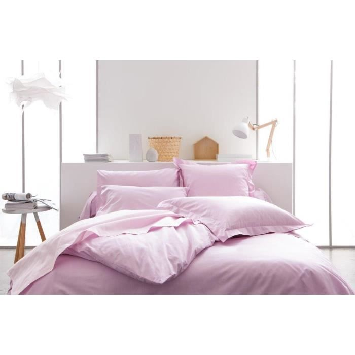 linge de lit today housse de couette 240x260 100 coton poudre de lila achat vente housse. Black Bedroom Furniture Sets. Home Design Ideas