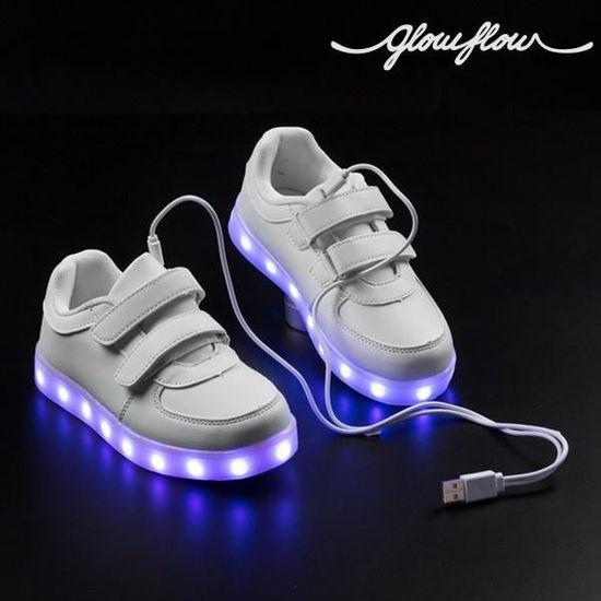 Baskets LED pour Enfants 7 couleurs Chaussure lumineuse