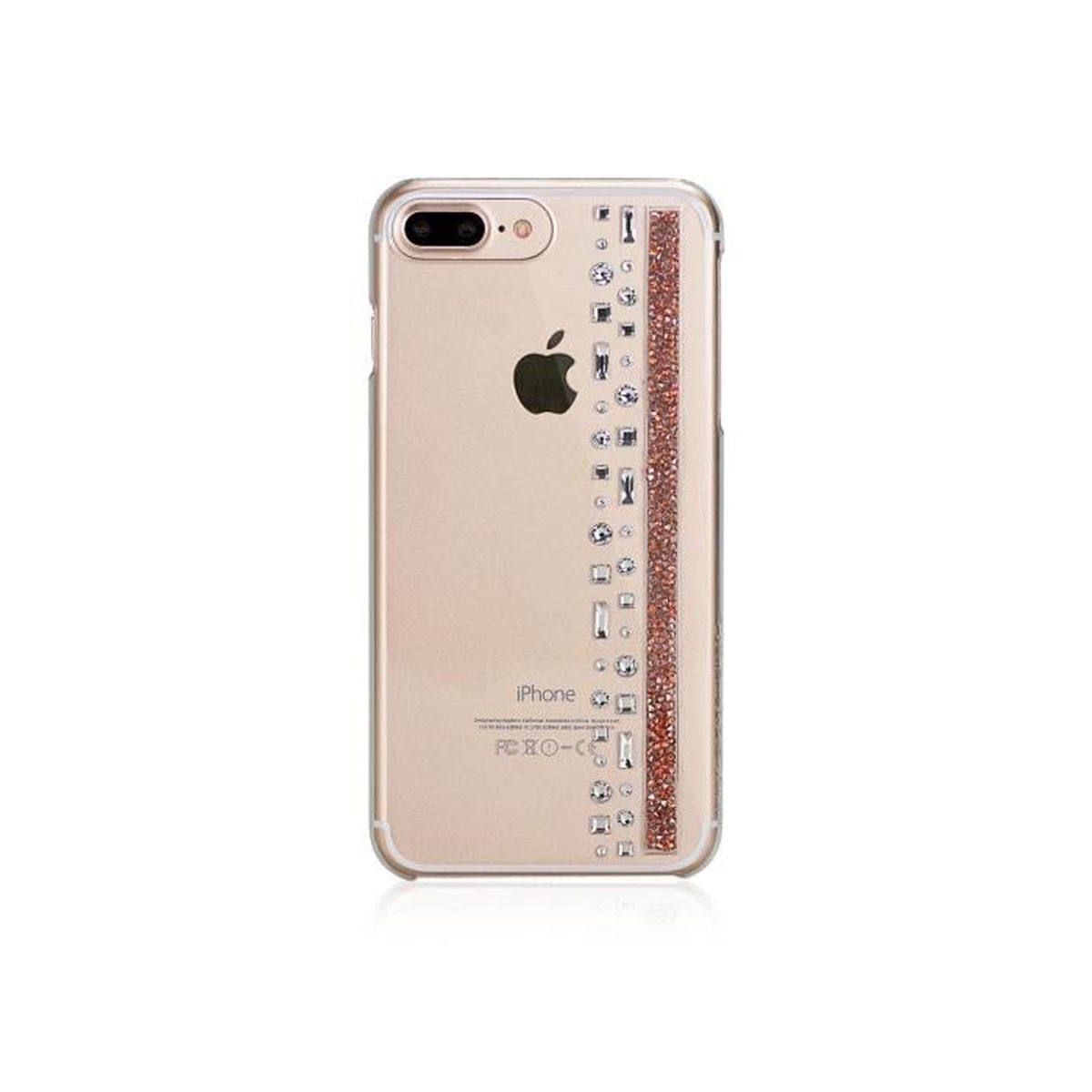 coque iphone 7 plus hermitage rose gold avec cristaux swarovski rose et cristal bling my thing. Black Bedroom Furniture Sets. Home Design Ideas