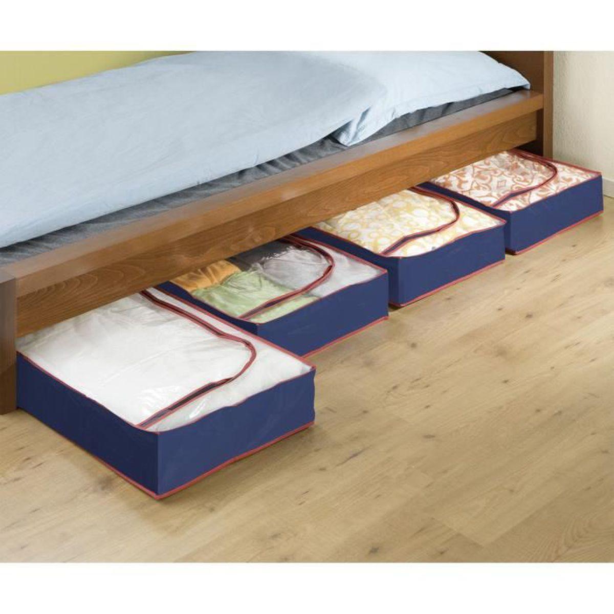 Lit Vetements Chaussures Livres Pas Cher 32 L Sous Lit Boite De Rangement En Plastique Maison Boites De Rangement
