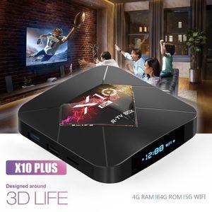 BOX MULTIMEDIA X10 Plus TV Box Android 9.0 4 + 64G Décodeur numér