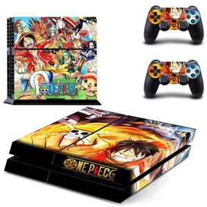 STICKER - SKIN CONSOLE Ps4 Autocollant One Piece Cartoon Decal Stickers S
