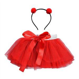 R rouge SODIAL Robe de ballet Jupe de Tutu moderne pour les filles