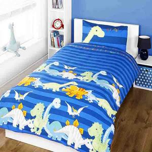 linge de lit dinosaure achat vente linge de lit. Black Bedroom Furniture Sets. Home Design Ideas