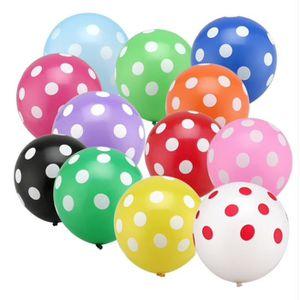 BALLON DÉCORATIF  Ballon anniversaire fetes multicolore motif pois 1