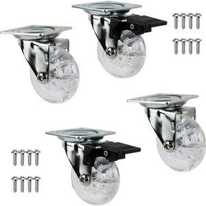 ROUE - ROULETTE ChangM Kit de 4 roulettes pour meuble 2 avec frein